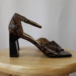 Amanda Smith Snake Leather Block Heels